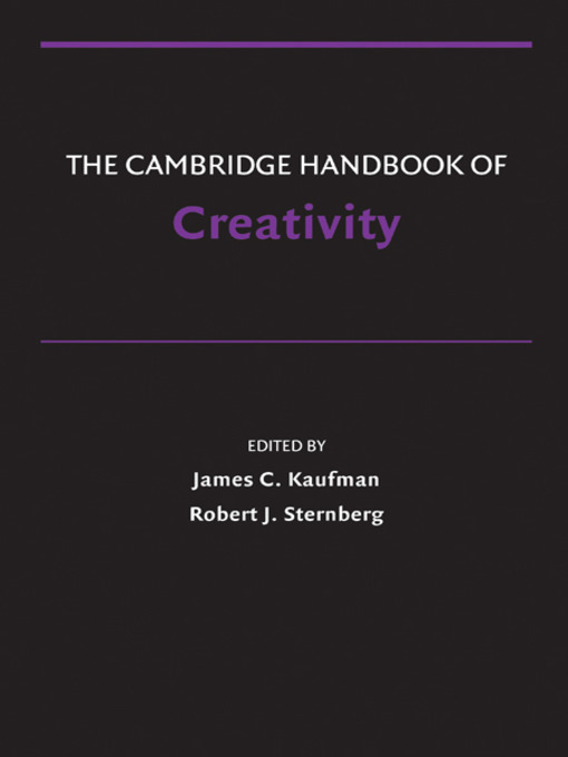 The Cambridge Handbook of Creativity (eBook)